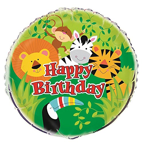 Animal Safari Folienballon One Size mehrfarbig