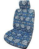 Made in Hawaii; Hawaiianisches Blau Fensterblätter Blätter Separate Kopfstütze Auto Sitzbezüge von Winnie Fashion