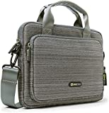 "Evecase 10.1"" Tablet Classic Suit Fabric Shoulder Bag Carry Case Briefcase for Acer Apple Asus HP Lenovo Samsung Sony Toshiba Tablet Chromebook Ultrabook up to 10.1-Inch - Grey"