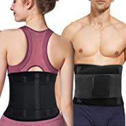 Lower Back Brace, Lumbar Support Belt for Women & Men, Adjustable Waist Trainer Belt for Lower Back Pain Relief, Keeps Your S