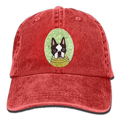 Bulldog Denim Hat Adjustable Women's Plain Baseball Hats (Cute Boston Terrier Kostüme)