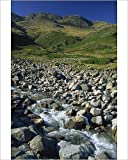 Photographic Print of Oxendale Beck below Crinkle Crags, Lake District National Park, Cumbria