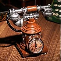 Preisvergleich für Retro Telefon Uhren Harz Handwerk Schmuck Kreatives Retro Hauptdekoration Geschenk Personalisierte Sparschwein