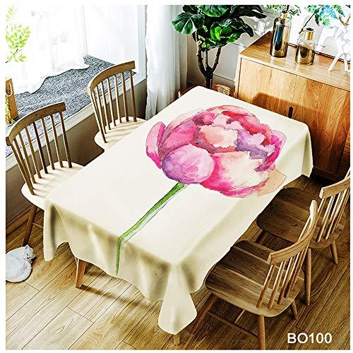 QWEASDZX Mantel Simple Personalidad Poliéster Impresión Digital Mantel Rectangular Antifouling a Prueba de Aceite Resistente al Agua Adecuado para Interiores y Exteriores 140x180 cm