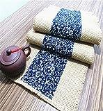 Sucastle® 33x340cm coton chanvre Chemin de Table Cuisine Imperméable Décoration en Aspect naturel