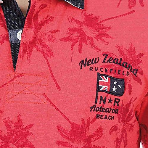 Ruckfield Herren Poloshirt Rot