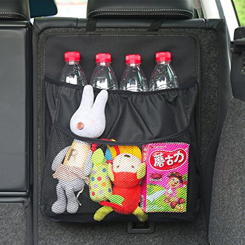 Kofferraum Organizer, Rückenlehnenschutz, Auto Organizer mit großen Netz-Taschen | Auto Aufbewahrungstasche | Rücksitz Organizer | Auto-Sitztasche (1 Stück)
