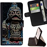 Momo Phone Case / Flip Funda de Cuero Case Cover - Buddha Temple Religion Culture - MOTOROLA MOTO X PLAY XT1562