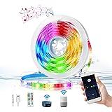 Tiras LED Wifi 3M, KNMY USB Tira LED con Control de Voz y APP, Funciona con Alexa, Google Home Tira LED Sincroniza con la Mús