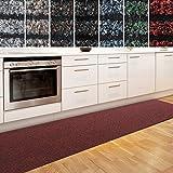 Küchenläufer Granada in großer Auswahl | strapazierfähiger Teppich Läufer für Küche Flur uvm. | rutschfester Teppichläufer / Flurläufer für alle Böden ( 80x100 cm Rot )