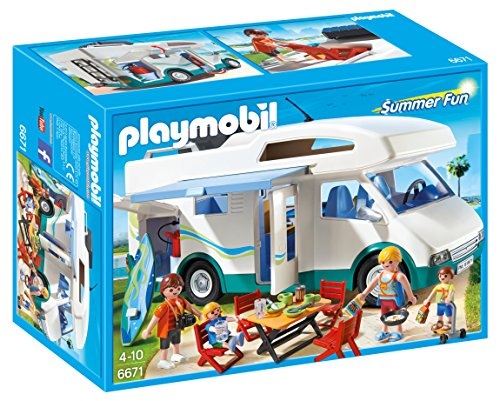 Playmobil Summer Camper Holiday Summer Caravan, Color (6671)