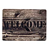 Stilingo Fußmatte Haustür außen und innen Schmutzabstreifer Tür-Matte Fussmatte mit Spruch Welcome Fußabtreter Innenbereich Türvorleger drinnen und draußen