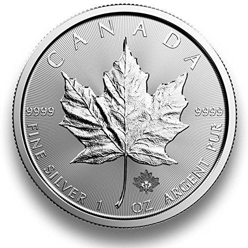 Preisvergleich Produktbild Silbermünze Maple Leaf - 2017 - einzeln in Münzkapsel verpackt - 1 Unze Silber - Neu und prägefrisch