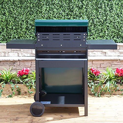 Logan 3 Burner Gas Barbecue in Green Steel