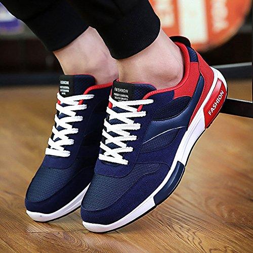 Homme Chaussures de Course Sports Fitness Gym Athlétique Baskets Sneakers Poids Léger Rouge