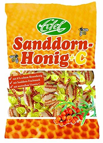 Preisvergleich Produktbild Sanddorn Honig + VC gefüllt 100 g Beutel Edel-Bonbon