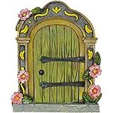 Muamax - Porta da giardino in miniatura delle fate, colore: verde