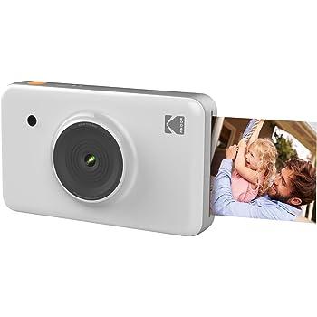 Kodak Mini SHOT Wireless 2x3 pollici con tecnologia di stampa brevettata a 4 PASS 2 in 1 Fotocamera digitale a stampa istantanea (Bianca)