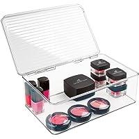 mDesign Rangement Maquillage – boîte à Maquillage Pratique avec Couvercle – Rangement Make up Parfait pour Vos Vernis…