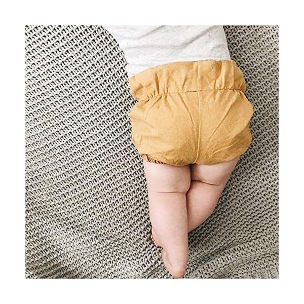 FELZ Pantalones Corto Bebé Niños Niñas, Verano Pantalones Cortos Fruncidos Color sólido Ropa de Playa, bebés de 3 Meses… 2