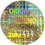 """100 x """"original"""" holograma pegatinas numeradas, 30 mm redondo, Silver etiquetas, gubernamentalmente, Secure, válida, auténtico, genuino, garantía, seguridad"""