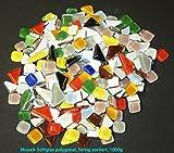 Unbekannt Mosaik Softglas polygonal, farbig sortiert, 1000 gr.