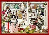 A4-Wandkalender - Katzen-Weihnacht