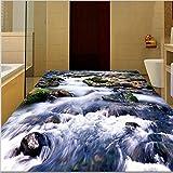 3d grand parquet trois dimensions de montagne haute-définition des dalles en pierre marbre peinture papier peint 3d'arrière-plan-200cmX140cm...