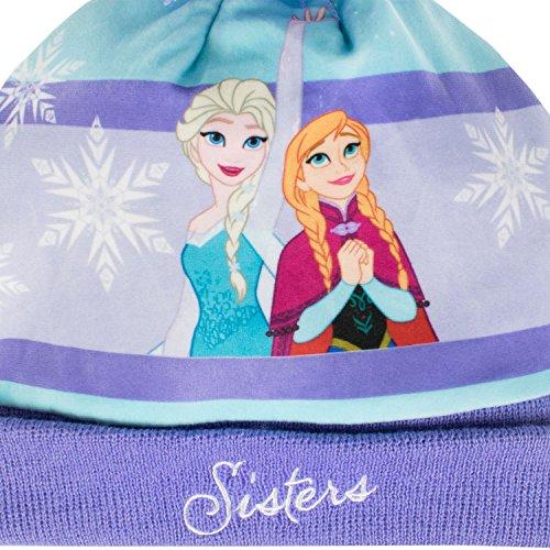 Disney Frozen - El reino del hielo - Conjunto de gorro y guantes para niña - Frozen