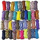 UOOOM 10 pezzi Kit per bracciali Paracord Corda da paracadute corda per sopravvivenza corda Set fai da te da intrecciare a mano (Colorful x 10 pcs)