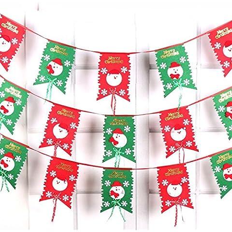 Decorazioni di Natale otto bandiera tessuto bandiera