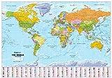 Scottish World Map - Political 1:30m Scale Plastic Coated Wall Map by XYZ Maps (2013-06-01) - XYZ Maps