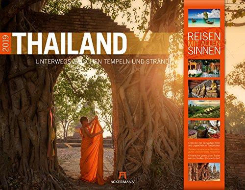Thailand 2019, Wandkalender im Querformat (54x42 cm) - Reisekalender mit Monatskalendarium (Reisen mit allen Sinnen)