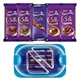 #8: Throni Cadbury Dairy Milk Silk Pack of 5 Combo with Container