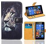 FoneExpert® Microsoft Lumia 535 Handy Tasche, Wallet Case