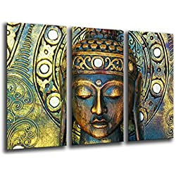 Cuadro Buda fotografico base madera, 97 x 62 cm, Buda Buddha Retro ref. 26017