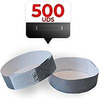 MP - Bracelets Tyvek 500 unités pour des événements, couleur argent