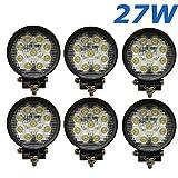 27W 4.3inch LED Work Light 2565LM LED Licht Lampe Arbeitsscheinwerfer Strahler Auto Boot Geländewagen LKW Traktoren Industriefahrzeuge SUV ATV Ute DC 12V 24V 6 pezzo