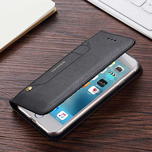 iPhone 6 iPhone 6S 4.7 pollice portafoglio custodia , LLZ.COQUE moda sintetica pelle copertura cover Slot per la rotazione Bookstyle Flip case Con Magnete e Supporto Orizzontale-oro rosa nero
