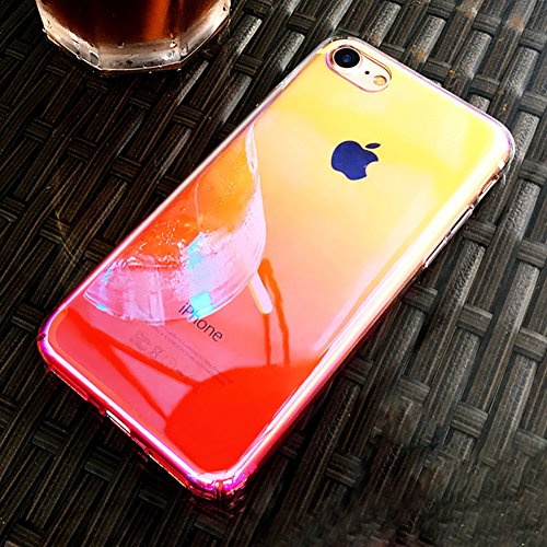 Custodia iPhone 7 Plus, iPhone 7 Plus Cover Trasparente, SainCat Custodia in Hard Plastic Protettiva Cover per iPhone 7 Plus, 360 Gradi Full Body 3D Design Custodia in Ultra Slim Transparent Case Ultr Rosa