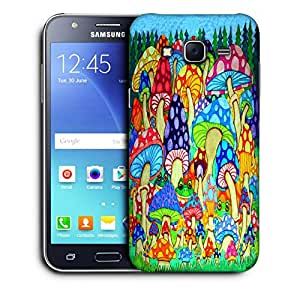 Snoogg Colorful Mushrooms Designer Protective Back Case Cover For SAMSUNG GALAXY J5