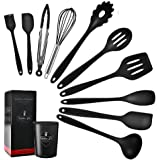 11 Pcs Silicone Kitchen Utensils Set Heat Resistant Cooking Tools for Non Stick Cookware Easy to Clean Kitchen Baking Kit wit