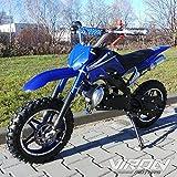 Viron Pocketbike 49cc Enduro Pocket Cross Bike Mini Motorrad Minibike Dirtbike (blau)