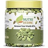 Nutri Desire 100% Organic Green Cardamom Big Size Elaichi, 50 gram Jar Pack