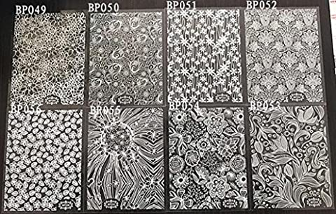 Hunpta 8feuilles NEUF Fleur Dentelle Nail Art Eau transfert Stickers Tips Décoration