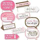 Party Propz Fun To Be One Pink Photobooth For Girls 1St Birthday Party Supplies (Set Of 10)