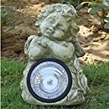 Wonderland Sleeping Angel / Cherub Solar Light Fountain for Home or Balcony
