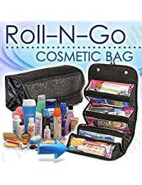ZAUKY Roll N Go Travel Buddy Cosmetic Toiletry Bag (Black) - B077ZVJGW5