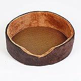 BiuTeFang Pet Bolster Dog Bed Comfort Chocolate Nest matching Mat mat kennel sleeping mat pet cooling pad Puppy Dog mat mat + non-woven cloth