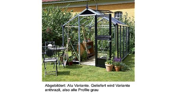 Juliana Gew/ächshaus Compact 5.0 Anthrazit Blankglas